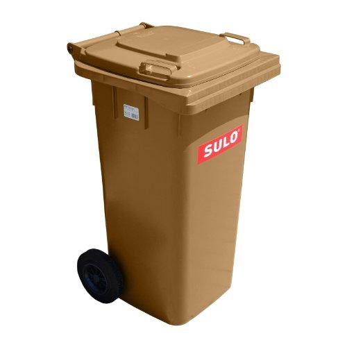 Conteneurs à ordures SULO MGB 120 L, marron