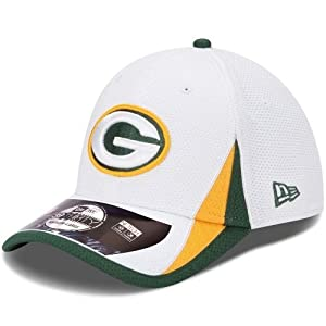 Green Bay Packers Era 39thirty 2013 Official Training Flex Fit Hat - White by New Era