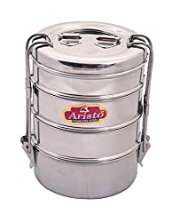 Aristo Tiffin 8x4 Stainless Steel Lunch Box
