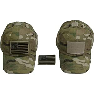 Special Force Tactical CAP HAT w/US Flag Patch MultiCam