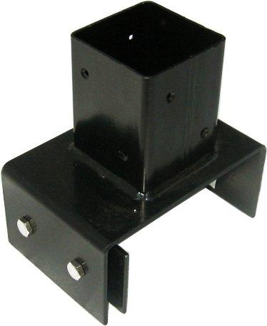 ラティスや木製フェンスなどのポール(支柱)に 15cm幅専用ブロック固定金具 [72-74mm角対応] ネジ付 BB-7215