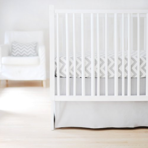 New Arrivals Sweet and Simple Crib Bedding Set, Gray, 2 Piece