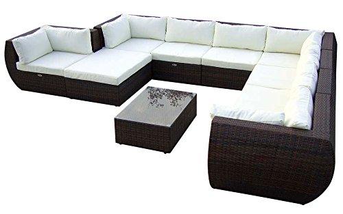 Baidani-Gartenmbel-Sets-10c0001500002-Designer-XXL-Sofa-Extreme-Hocker-mit-Auflage-Couch-Tisch-mit-Glasplatte-braun
