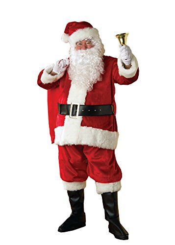 Rubies Mens Premier Plush Santa Suit Christmas Holiday Costume