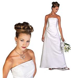 Roberta Bridal White Size 10 Informal Bridal Gown Wedding Dress Evening Prom Graduation Debutante