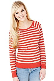 Angel Pure Cotton Raglan Sleeve Striped Top