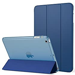 iPad Mini 3 Case - MoKo Ultra Slim Lightweight Smart-shell Stand Cover with Translucent Frosted Back Protector for Apple iPad Mini 1 (2012) / iPad Mini 2 (2013) / iPad Mini 3 (2014), Navy BLUE