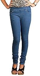 Fashion Stylus Women's Jeggings (FST-604-32, Blue, 32)