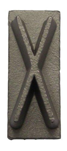 Letter X 3/16-Inch Interchangeable Branding Iron Character BNL-518-X