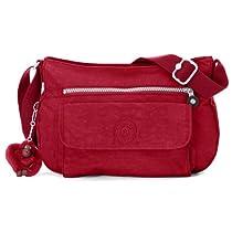 Hot Sale Kipling Luggage Syro Shoulder Bag, Claret Red, One Size