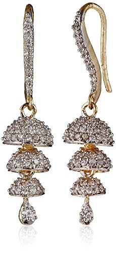 Ava Jhumki Earrings for Women (Gold) (E-B-1107)