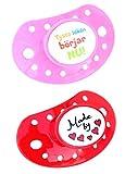 ESSKA moda de látex (rosa / rojo, Paquete de 2)