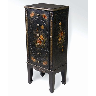 Dark Wood Jewelry Armoire front-1038334
