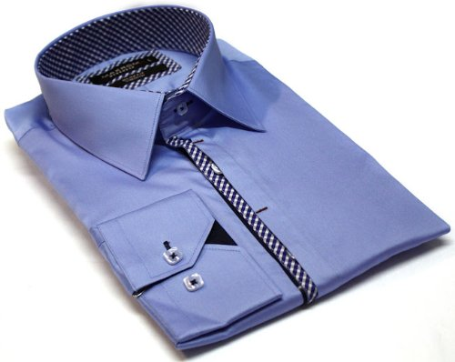 Italian Design Men's Formal Casual Shirts Blue Colour