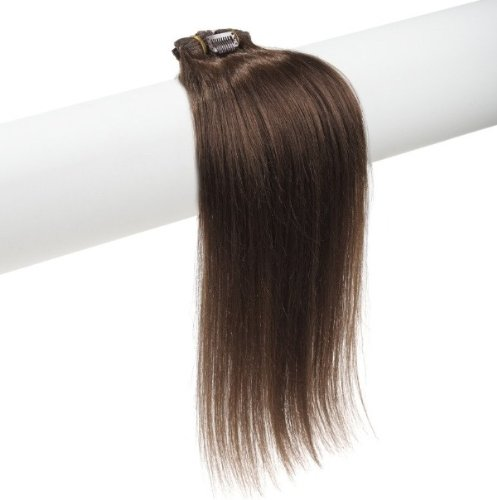 15″ 18″ 20″ 22″ Remy (Remi) Human Hair Straight Clip in Extensions All Colors for Your Choose 7 Pieces(pcs) [Set Weight:70-80 Grams] (20″, #4 Medium Brown)