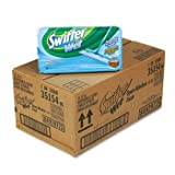 Swiffer 35154CT - Wet Refill System, Cloth, White, 12/Box, 12/Carton