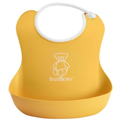 baby-bjorn-bavoir-souple-jaune-blanc