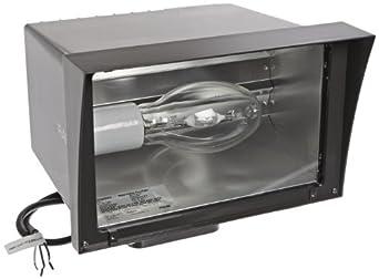 RAB Lighting FZH250PSQ Floodzilla Pulse Start Metal Halide Floodlight with Trunnion mounting Bracket, ED28 Type, Aluminum, 250W Power, 25000 Lumens, 120/208/240/277V, CWA-HPF QT Ballast, Bronze Color