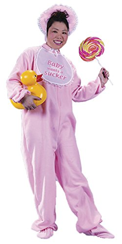 Funworld Womens Comical Funny Pink Be My Baby Infant Adults Halloween Costume