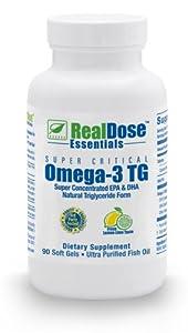 RealDose Super Critical Omega-3 TG Fish Oil (2400 mg Omega-3's/day) 90 Soft Gels