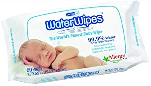 DermaH2O WaterWipes Wipes, 60 Count