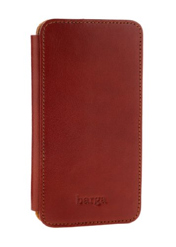 Special Sale Barga Cases Genuine Leather Wallet Case for Iphone 5 / 5S , Vegetal - Tan