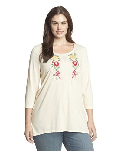 JWLA Plus Women's Reese Embroidered Top
