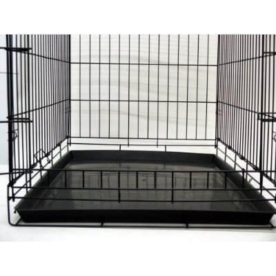 24″ Pet Folding Dog Cat Crate Cage Kennel w/ABS Tray LC