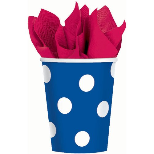 Blue Polka Dot 9 oz. Paper Cups Party Accessory
