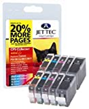 10 Jettec ink Cartridges To Replace CLI-8/PGI-5 - Cyan / Magenta / Yellow / Black / Black- Fully Chipped, Ready for Use- For use with Canon Pixma iP4200 IP4300 iP4500 iP5100 iP5200 iP5200R iP5300 MP500 MP530 MP600 MP600R MP610 MP800 MP800R MP810 MP830 MP