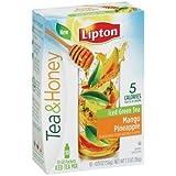 Lipton Beverage Tea & Honey Green Tea To Go Mango Pineapple Iced Tea Mix, 0.13 Oz, 10Ct (1 Box)