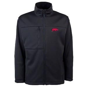 Arkansas Razorbacks Cardinal Traverse Bonded Soft Shell Jacket by Antigua