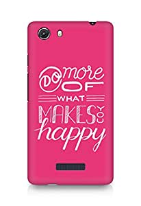 AMEZ do more of what makes you happy Back Cover For Micromax Unite 3