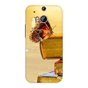 Special Book Butterfly Back Case Cover for HTC One M8