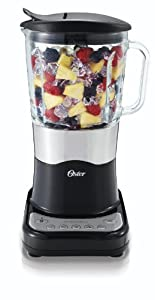 Oster BLSTDG-B Designer Series 7-Cup Glass Jar 6-Speed Blender, Black with Stainless Steel Accents at Sears.com
