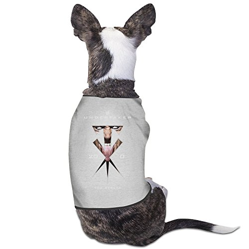 [GDFEH Superstar Undertaker Logo Daily Pet Dog Clothes T-shirt Coat Pet Puppy Dog Apparel Costumes New Gray] (Wwe Kane Costume For Sale)