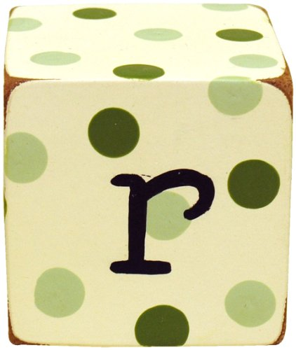 New Arrivals Letter Block R, Green/White