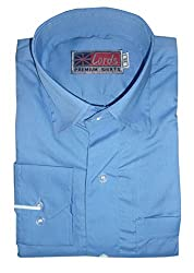 Lords Wear Men's Formal Shirt (LordsWear_Blue _42)
