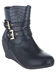 SHUZ TOUCH BLACK BOOT (SIZE-41)