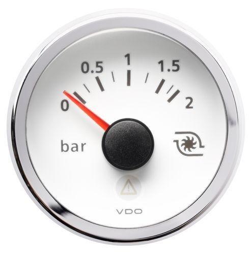 Mit Druck Turbo VIEWLINE-Boden Weiß-Durchmesser 52mm