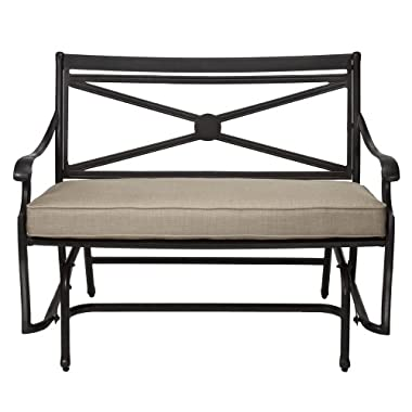 Target Smith Hawken Allogio Metal Cast Aluminum Motion Glider Bench Gliders Seating Patio