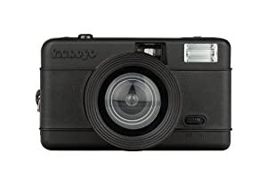 Lomography Fisheye One Compact 35mm Film Camera, 10mm Fisheye Lens, 170deg. Field of View, All Black
