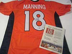 Peyton Manning Signed Autographed Jersey Denver Broncos Authentic Certified Coa
