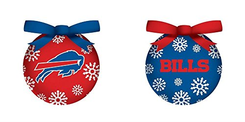 Buffalo Bills Boxed Led Ornament Set