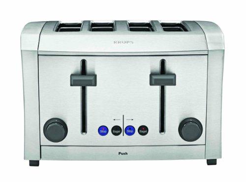 Krups Tt9340 Semi Pro All-Metal 1500-Watt Toaster, 4-Slice