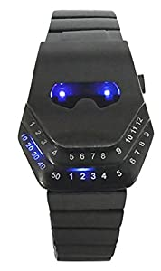 Mastop Men's Special Style Casual Watches Gadgets Interesting Amazing Snake Head Design Blue LED Watch