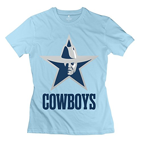 ZZY Geek Dallas Cowboys Tee - Women's Tshirts SkyBlue