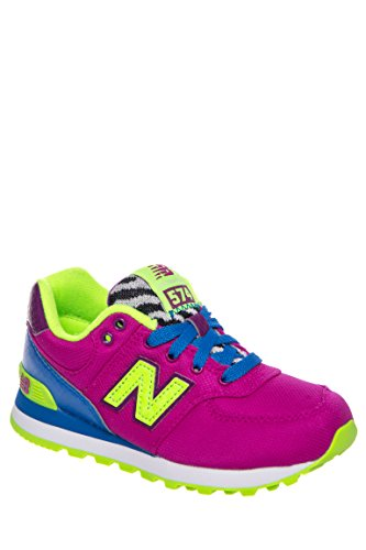 Girls' Neon Low Top Athletic Sneaker