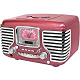 Crosley CR612 Corsair Alarm Clock Radio with CD Player-Metallic Pinkby Crosley