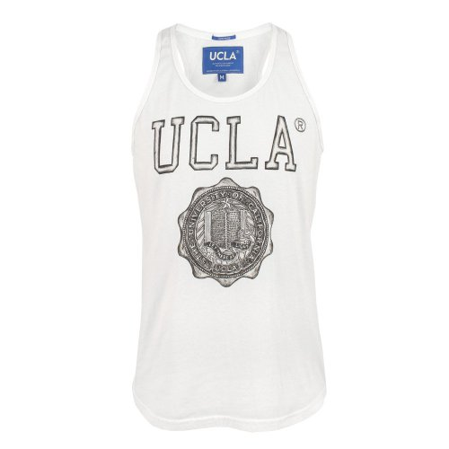 UCLA Mens Whitley Illustrated Print Vest White Medium